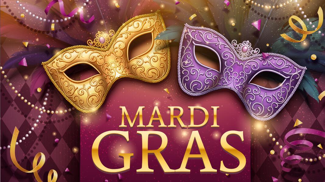A bedazzled Mardi Gras